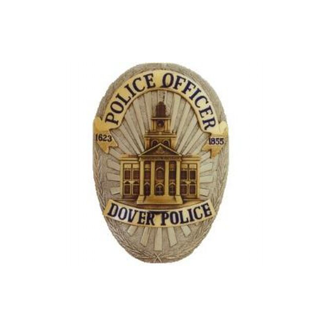 Photo of the Dover Police shield on a white background