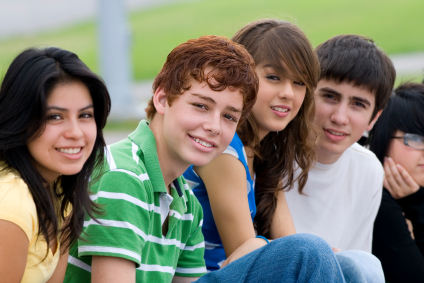 Image of a group of teens