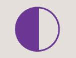 Icon of a half-shaded circle
