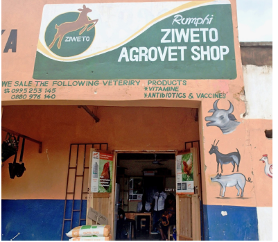 The Ziweto Agrovet shop in Rumphi in the Northern Region of Malawi.