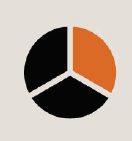 Icon of a pie chart with 1/3 filled