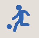 Icon of a person playing soccer