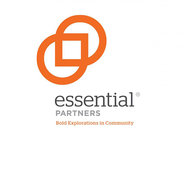 """Logo for Essential Partners with tagline """"Bold Explorations in Community"""""""