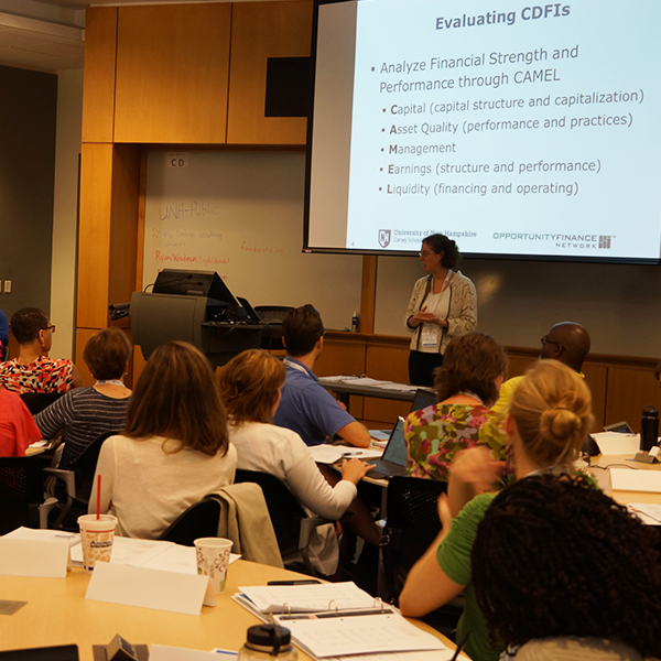 NDC students taking a course on CDFIs