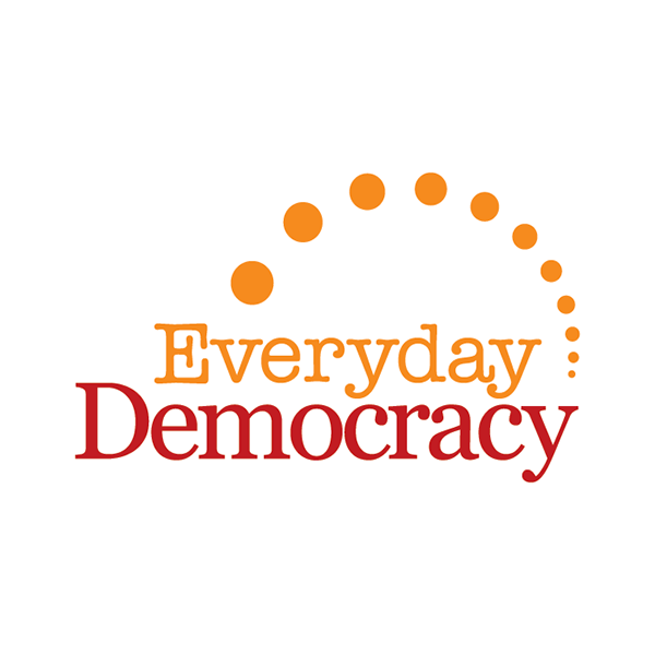Everyday Democracy logo positioned in center of the frame