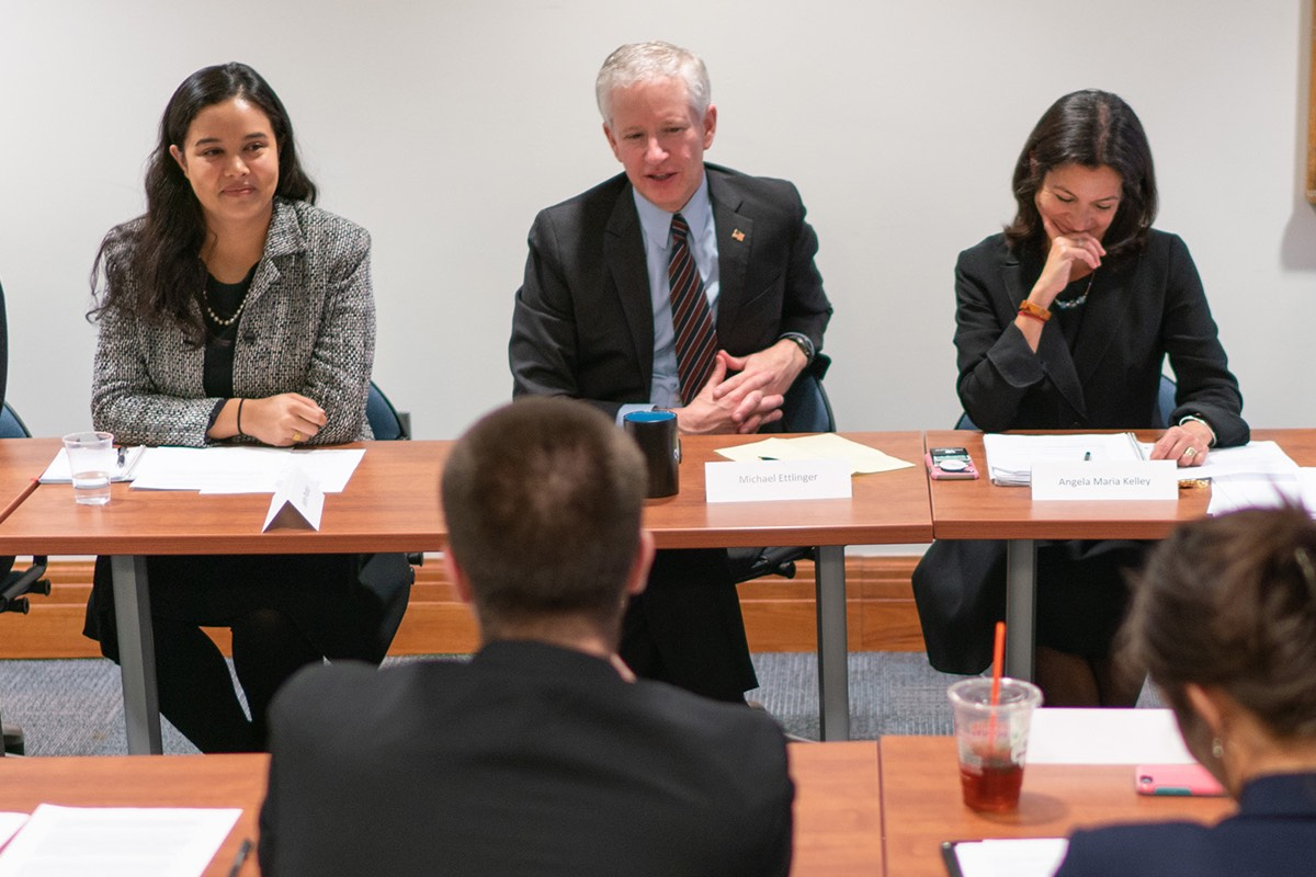 A photo of Master in Public policy students participating in a meeting