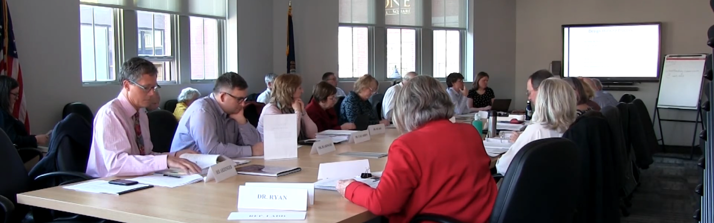 Photo showing a School Funding Study meeting with stakeholders.