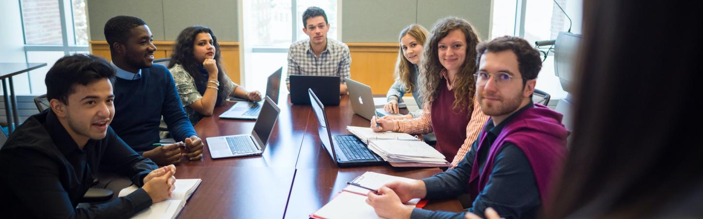 Undergraduate students in an accelerated master's program