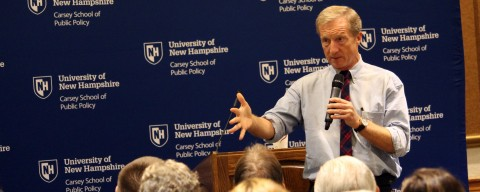 tom steyer at the carsey school of public policy, candidate speaking series
