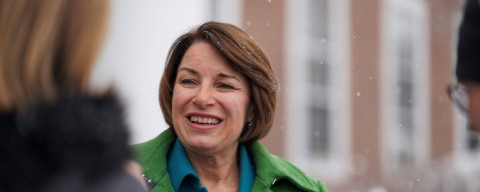 Sen. Amy Klobuchar at the UNH Franklin Pierce School of Law.