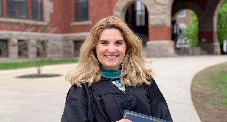 Megan Brabec, 2019 Graduate of the Master of Public Administration program at UNH
