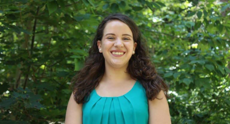Carsey School Master of Public Policy graduate Carina DeBarcelos '19 received a Distinguished Wildcat Award, bestowed by the Graduate Student Senate in Dec. 2019.