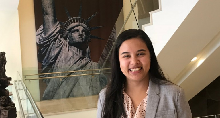 The Carsey School of Public Policy's Washington, D.C., colloquium program inspired master in public policy (MPP) student Jiedine Phanbuh to pursue a summer internship in the nation's capital.