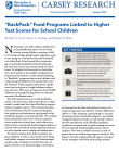 cover of backpack food programs brief