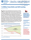 cover of fewer births data snapshot