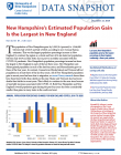 cover of NH estimated population gain snapshot