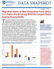 cover of NH migration gains data snapshot