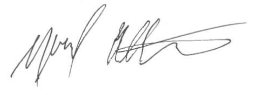 Image of Michael Ettlinger's Signature