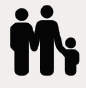 Icon of two parents holding child's hand