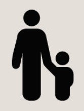 Icon of parent holding a child's hand