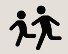 Icon of two kids running