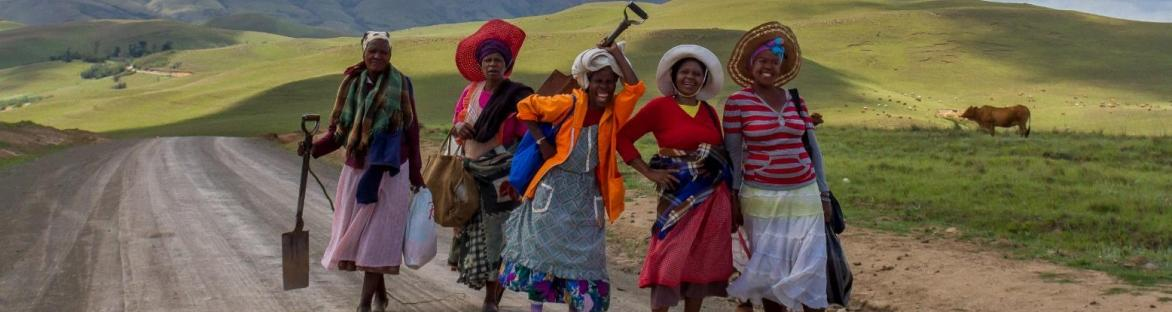 Image of women in Africa on a road