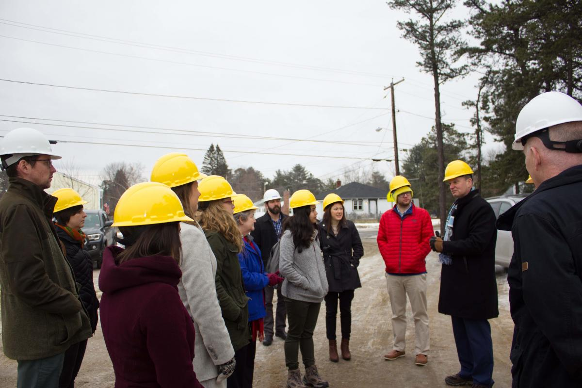 Master of Public Administration students touring a government facility